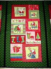 "Secret Santa by Benartex Christmas Fabric Panel 23""  #03210"