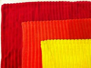 BNWT CUSHION COVER - STRIPE VELVET - 100% COTTON - RED ORANGE YELLOW COLOURS