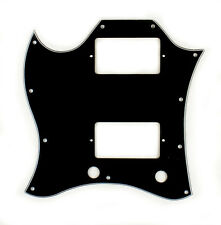 3 Ply Left Handed SG Standard Guitar Pickguard 11 Hole (Full Face) - BLACK