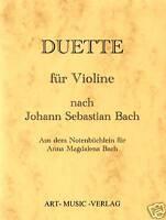 GEIGE/VIOLINE DUETTE > J.S. BACH ( NOTEN )