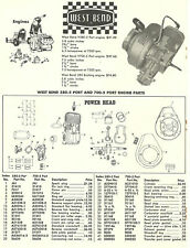 Vintage '60's West Bend 580-5 & 700-5 Port Engine Parts