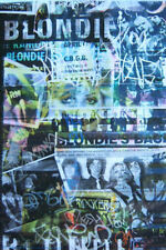 BLONDIE DEBBIE HARRY GRAFFITI VINTAGE PICS COLLAGE WALL POSTER - NEW SEALED