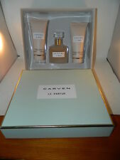 Carven Le Parfum 3 Piece Perfume EDP 3.3 Spray Body Milk Lotion Shower Gel Set