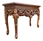 VTG Theodore Alexander Althorp Large Carved Wood Gilded Console Table 60x40x23