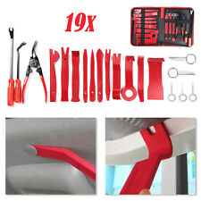 19 Pcs Car Trim Removal Pry Tool Molding Kit Panel Door Dash Interior Clip Set