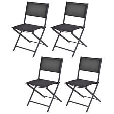 Set of 4 Outdoor Patio Folding Chairs Camping Deck Garden Pool Beach Furniture