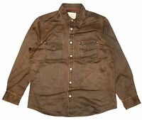NORTH RIVER MEN EARTH SUEDE JACKET BROWN