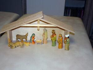 Krippenfiguren handgeschnitzt, Erzgebirge, Pyramidenfiguren, Weihnachtsfiguren