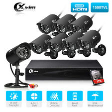 XVIM Surveillance security Camera System Phone Monitoring 8CH CCTV DVR 1TB HDD