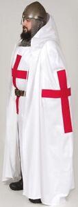 Medieval Big Red Templar Crusader Tunic,Surcoat & Cloak Reenactment SCA Larp