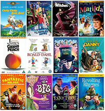 ROALD DAHL COLLECTION DVD Chitty Bang Willy Wonka Chocolate Factory Witch UK New