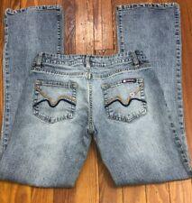 Bubblegum Jeans Size 3/4 Juniors Womens Bootcut Acid Wash Stretch Denim Heart