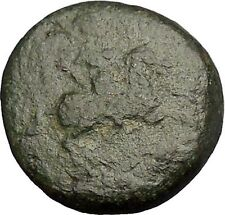 Greek City Ancient Greek Coin 300-100BC Apollo father of Asclepius Horse i51938
