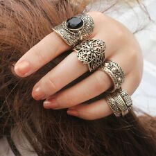 set anillos 4 pieces Vintage Antique golden Boho Ethnic Carved Midi Knuckle Ring