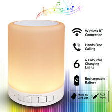 Bluetooth Mood Lamp Speaker 6 Colour Changing Portable USB Rechargeable Light