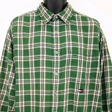Tommy Hilfiger Jeans Shirt Vtg 90s Flag Plaid Corduroy Flip Cuffs Mens Large