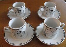 4 Riviera/Van Beers by Signature Housewares SIG 30 Espresso Clock Cup & Saucer