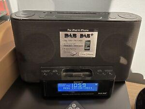 SONY XDR-DS12IP Audio Docking System for iPod - Black - With DAB Radio Alarm