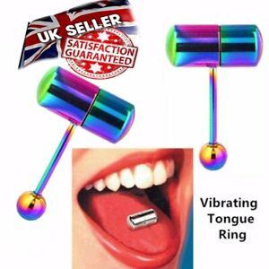 Vibrating Tongue Bar Jewelry Body Piercing Barbell Unisex Tongue Piercing UK
