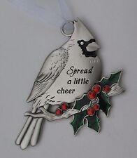 bbd Spread a little cheer CHRISTMAS CARDINAL ORNAMENT newlywed ganz holly berry