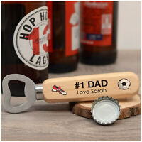 PERSONALISED Birthday Bottle Opener Gifts for Dad Daddy Grandad Football Gift