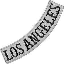 VEGASBEE® LOS ANGELES REFLECTIVE EMBROIDERED IRON-ON PATCH JACKET LOW ROCKER 12""
