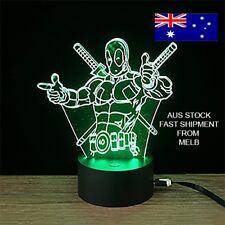 marvel deadpool 3D LED Light 7 colours remote control & touch Xmas Gift Decore
