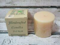 Williamsburg Soap & Candle Co Vintage Vanilla scented 3x3 Pillar - NEW UNUSED!