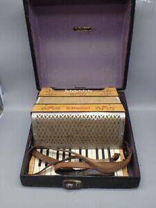 Vintage 1931 Hohner Accordion in Original Case Germany Parts Or Repair