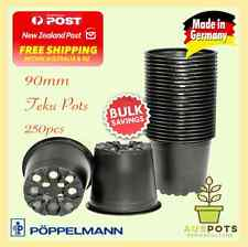 90mm Black Plastic Garden Squat Pots Round x 250pcs TEKU VCG - Propagation