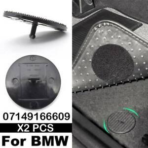 2x Floor Mat Clips 07149166609 for BMW and Mini Cars- Hook & Loop Carpet Fixings