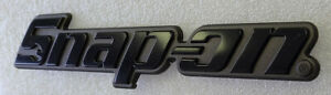"NEW STYLE BLACK GRAY SNAP ON TOOL BOX 3D TOOL BOX  BADGE LOGO EMBLEM 8"" Lenght"