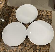 🔥 PORCELAIN DINNER PLATES - PILLIVUYT -  WHITE Set of 4 MADE IN FRANCE Excl