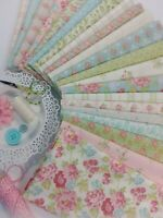 BRAMBLE COTTAGE Brenda Riddle Shabby Chic Quilting Fabric ~ 21 Fat Quarters