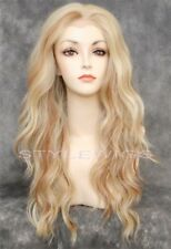 Honey Blonde Mix Long Wavy Heat OK Lace Front Synthetic Wig Yvonne SAYV 613/27