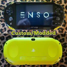 Custom PS Vita 3.60 Henkaku Enso 256GB BLK/Lime PCH-2000 (LED) Loaded!!!