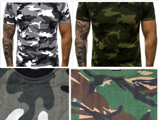 Men's Camo T Shirt Camouflage  WOODLAND Top Army / Military / Hunting / Fishing