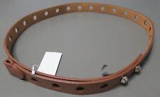 Michael Kors Women's Large Perforated Stud Closure Leather Belt, Nutmeg, L/XL