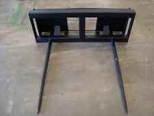 "Skidsteer 2 Spear Hay Bale Stacker 48"" Long Heavy Duty Spear"