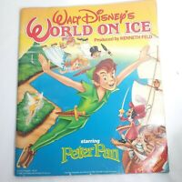 Disney World On Ice Peter Pan Souvenir Program Book with Poster Vintage 1990's