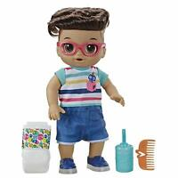 Baby Alive Step N Giggle Baby Brown Hair Boy Doll with 25+ Sounds and Phrases