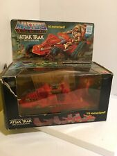 Vtg 1982 MOTU Attak Trak He-man Masters of the Universe with box Working