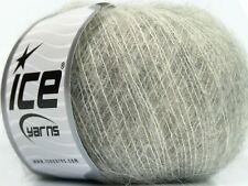 Lot of 10 Skeins Ice Yarns KID MOHAIR CLASSIC (70% Kid Mohair) Wool Light Gre...