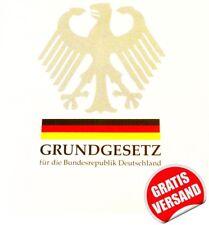aktuelle Ausgabe: Grundgesetz Deutschland Taschenbuch Recht GG gültig für 2018
