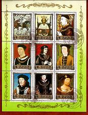 COREA colección 9 Sellos: Historia real de Europa ,La monarquía BX16F