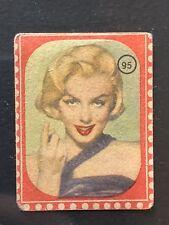 1950 Sticker Attori Cinema Marylin Monroe #95 Nannina Card Italy New Very Rare