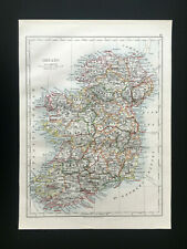 Antique Map Of Ireland 1892