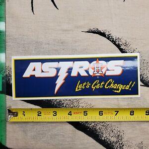 Houston Astros MLB Baseball Bumper Sticker Vintage Stickers Logo Emblem CHARGED