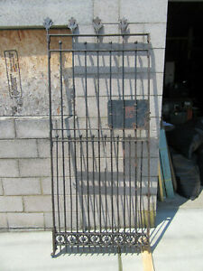 ~ ANTIQUE WROUGHT IRON ALLEY GROCERS GATE ~ 36 X 84 ~ ARCHITECTURAL SALVAGE ~