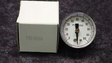 """(3) POWERS 1-1/2"""" PRESSURE GAUGE, 1/8"""" BM, 3/15 PSI OUT, IN 25 PSI 100F 142-0316"""